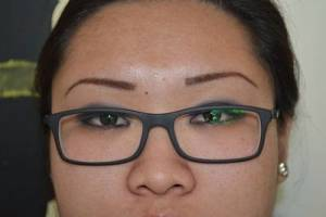eyebrow challenge before