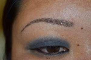 eyebrow challenge healed
