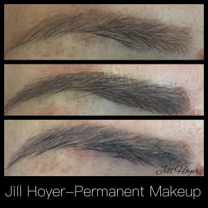 Comparison Fresh vs Healed Permanent Eyebrows
